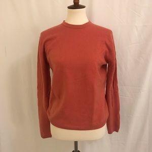 J. Crew cashmere sweater salmon